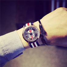 New Arrival D Famous Brand Style Hollow England Trend Nylon Sport Wristwatches Wrist Watch for Men Male Young OP001