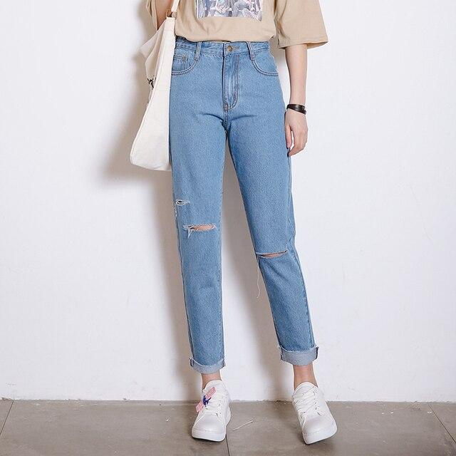 Harajuku Trou Brossé Femmes 2017 Dessin De Jeans Version Kawaii Rue awIw7O