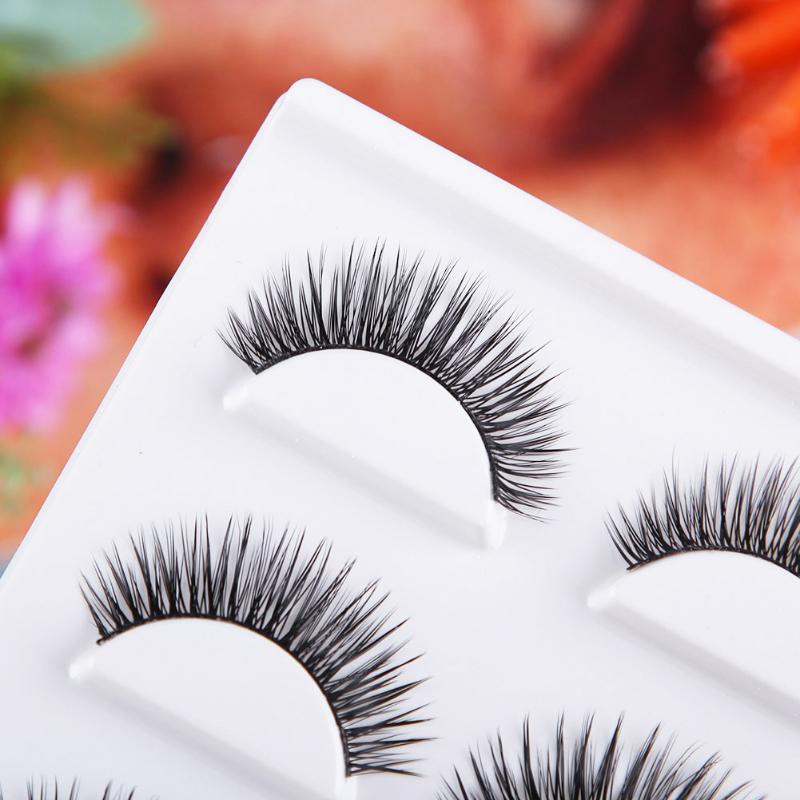 3 пары толстые удлиняющие ресницы ручной работы натуральный макияж Накладные ресницы пересекаются красивые ресницы для наращивания большие глаза ресницы