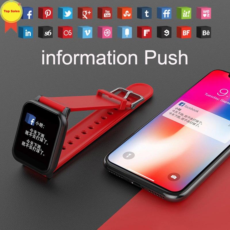Montre-bracelet intelligente montres intelligentes moniteur de fréquence cardiaque numérique message push hommes Sport bande intelligente Bluetooth bande 4 IOS andorid - 6