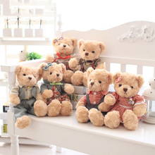 цена на Kawaii Plush Teddy Bear Small Stuffed Bear Boys Girls Style Couple Bear Soft Toys Birthday Valentine Day Wedding Gift