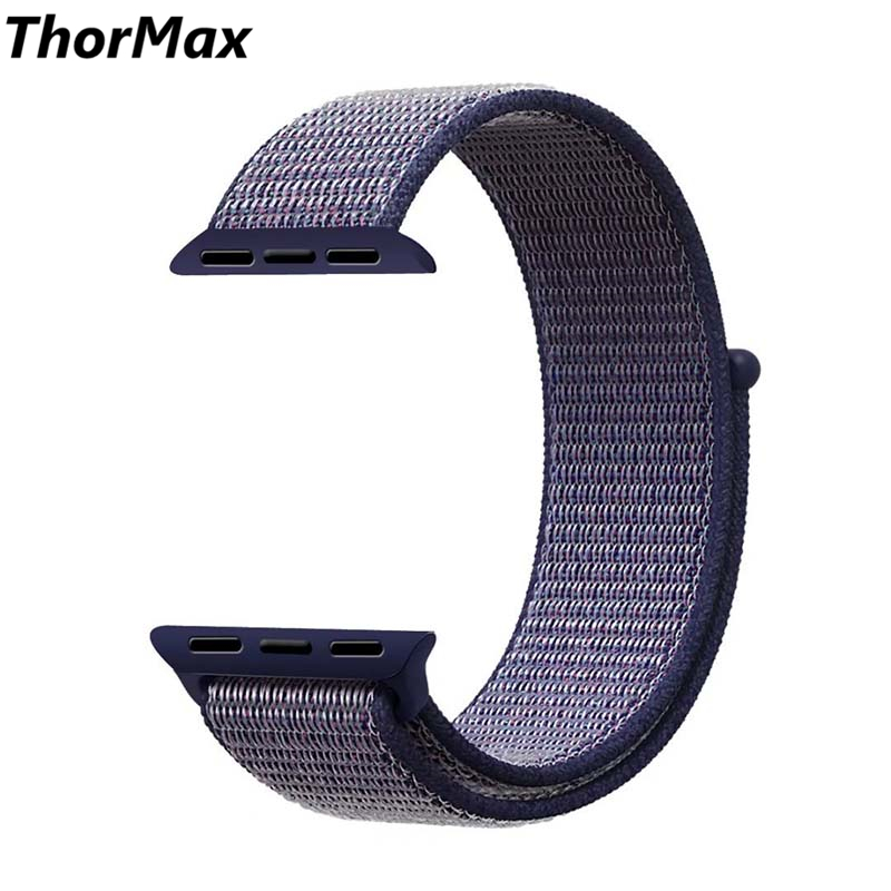 ThorMax sport woven nylon loop strap for apple watch band wrist braclet belt fabric-like ...