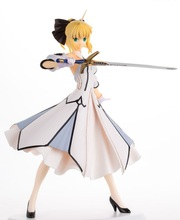 купить new  18cm Anime Fate/Stay  Saber Lily PVC Action Figure Collectible Model Kids Toys Doll по цене 1627.63 рублей