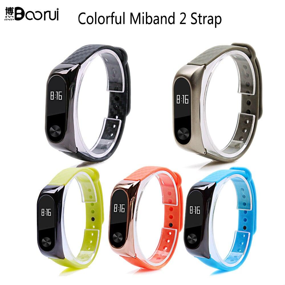 BOORUI Mi Band 2 Strap Pulsera Mibband 2 Werable Smart Bracelet Replacement Colorful Thermoplastic Zinc Alloy  Belt For Xiaomi 2