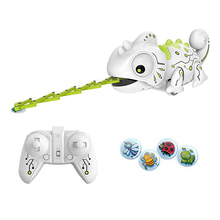 Smart Chameleon Robotic Toys Hungry Lizard Intelligent Electronic Pet Toy Can Eat Things Function Funny Toy Gift for Boys Girls