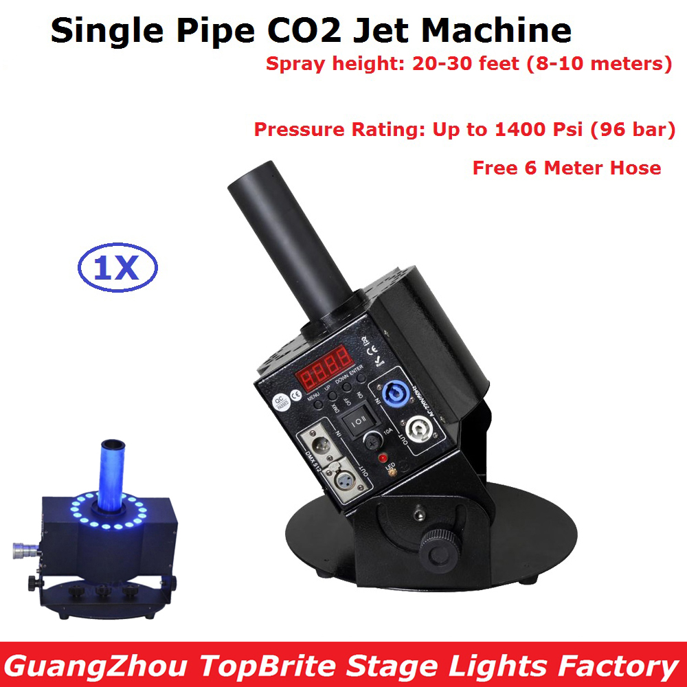 1Pcs/Lot Professional DJ Equipments Single Pipe DMX512 CO2 Jet Machine Shoot 8-10 meters Up Smoke