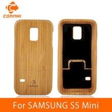 Cornmi For Samsung Galaxy Cover Luxury Wood Design Cell Phone Case S5 Mini