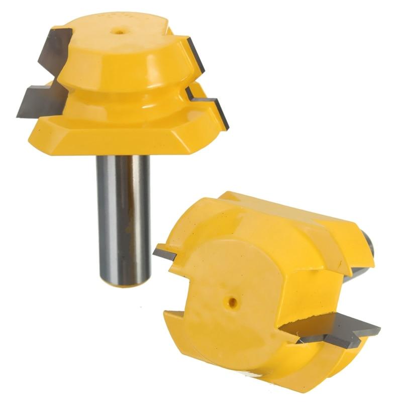 2pcs Professional Rail Stile Router Bit 1/2 inch Shank Woodworking Chisel Cutter