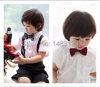 100pcs/lot New Arrival butterfly Slim Shirt Accessories banque tie children Bow tie Boys Adjustable Self Bow Tie Children Boy