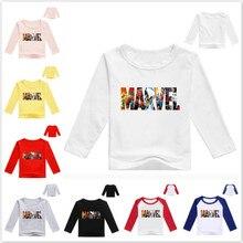 Новинка, Весенняя футболка для маленьких мальчиков с принтом комиксов Marvel, детская одежда, детские футболки с длинным рукавом, хлопковые то...