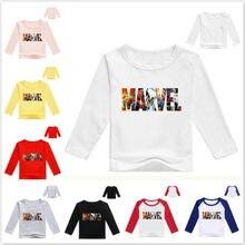 Nova primavera dos desenhos animados marvel comics imprimir bebê meninos t camisa crianças roupas de manga comprida camisetas meninas algodão dos desenhos animados topos t