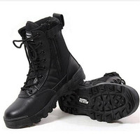 2016 Winter Men Army Boots Mens Military Desert Boot SWAT Combat Boots Autumn Breathable Snow Ankle