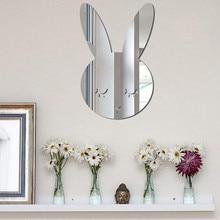 Наклейка на зеркало, украшение для дома, наклейка s, Скандинавское дерево, акриловое зеркало, мультяшная настенная камера, реквизит для детской комнаты, украшение на стену