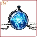 Doctor Who Gallifreyan Glass Cabochon Pendant Necklace, Your Custom Picture are Available to be Printed