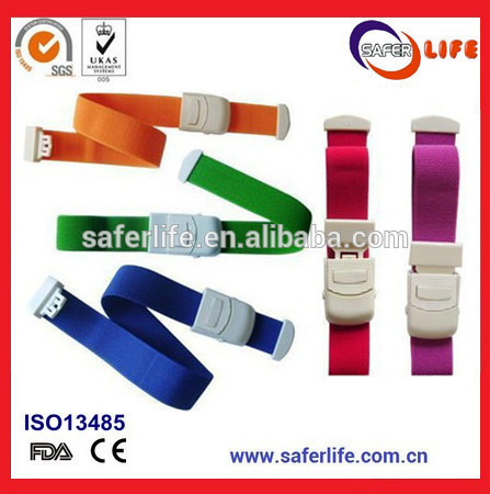 wholesale 200pcs latex free EMS FIRST AID SPENDEX Medical Supplies Strong Buckle Elastic Tourniquet