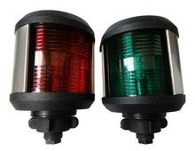 Faro LED de 12V para barco, luz de navegación para barco marino, luz roja y verde, luz de estribor, luz blanca para cabeza de máscara, lámpara de señal de vela