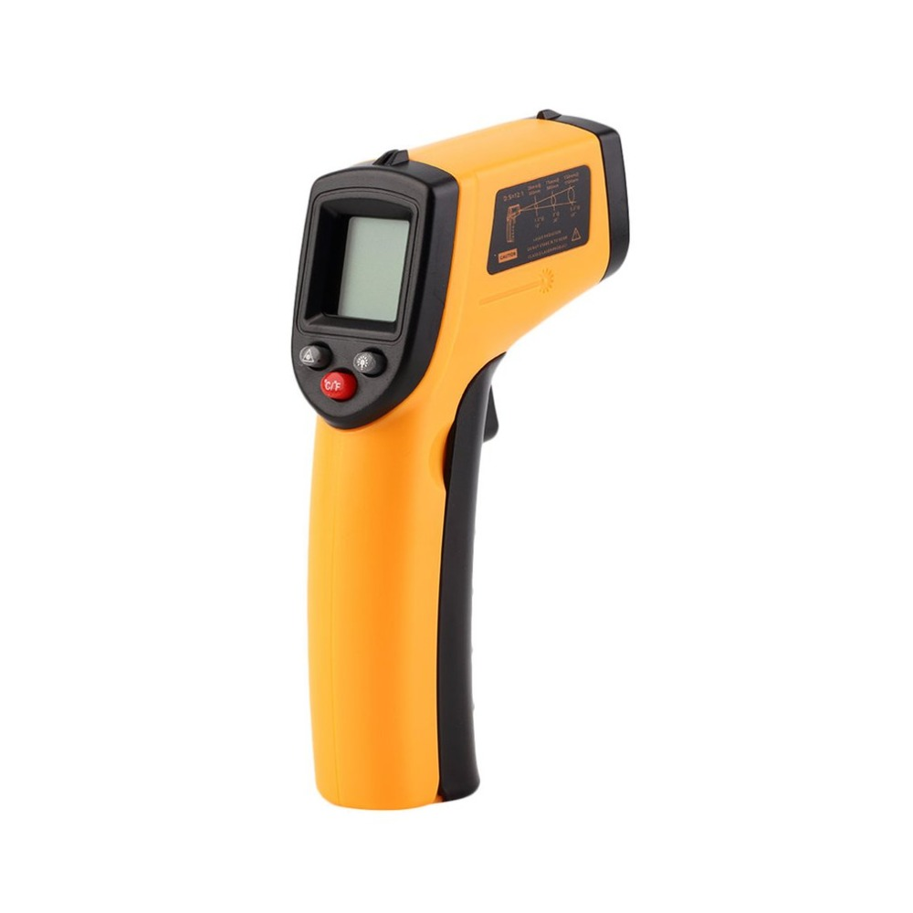 Non-Contact Digital LCD Infrared Thermometer Gun IR Laser Point Thermal Infrared Imaging Temperature Handheld Meter Pyrometer 50 600c 50 400c handheld non contact ir infrared thermometer digital lcd laser pyrometer temperature meter with backlight