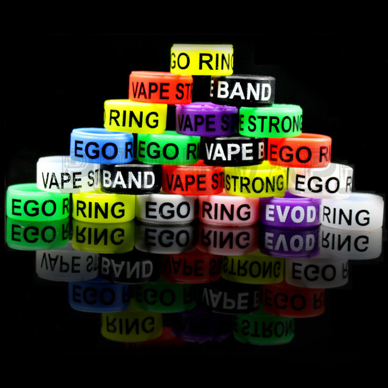 Pilot VAPE 100pcs E Cig EGO EVOD Silicone Ring Electronic Cigarette Silicon Ring Non Skid For