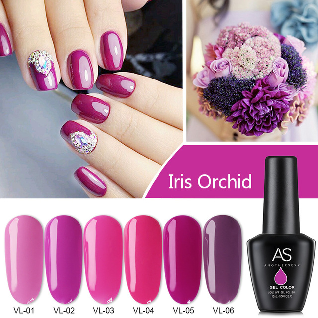 AS Pure Color Nail Art Gel Paint Gel Tips DIY Decoration Painting ...