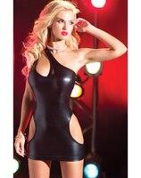 Fashion Color Dress Sexy Women S Dress Clubwear Vinyl Cut Out Mini Dress CB9541