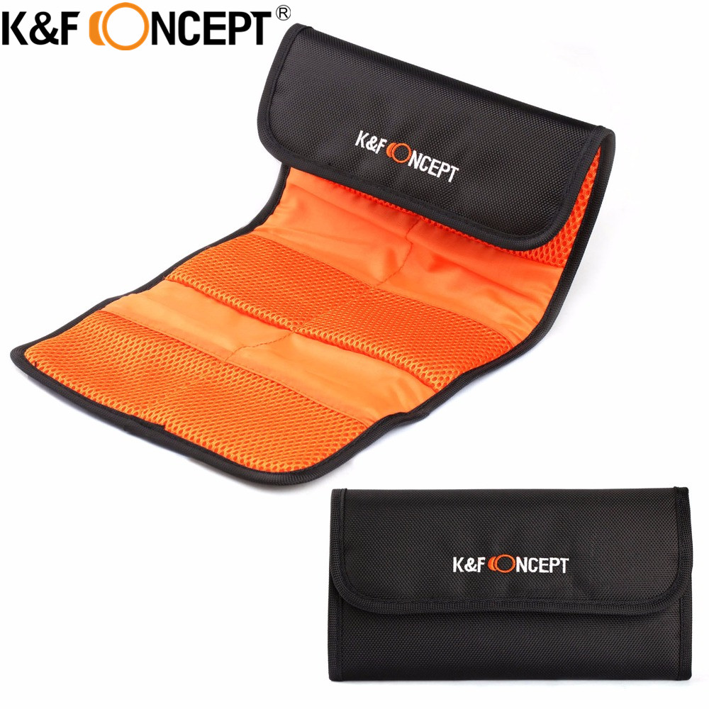 Free Shipping Lens Filter Wallet Skin Case 6 Pockets Camera Filter Bag For UV Polarizing ND 49mm 52mm 55mm 58mm 62mm 67mm 77mm