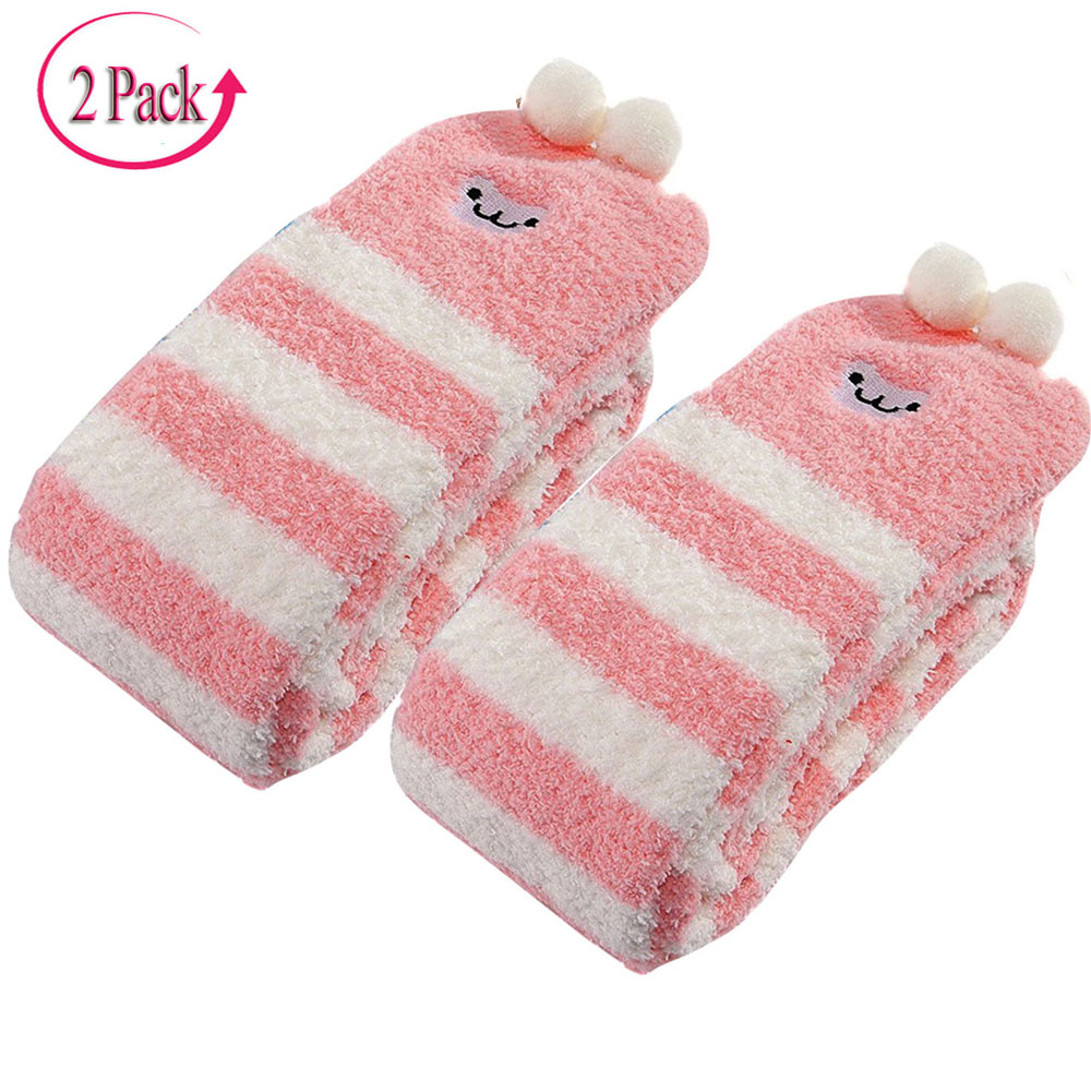 Image 2 - Adult Cute Animal Coral Fleece Thigh High Long Striped Socks Abdl ddlg Sissy Kink Little Space Ageplay SocksStockings   -