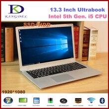 13.3 дюймов core i5-5200U двухъядерный мини-ultrabook ноутбук, 8 ГБ Оперативная память 128 ГБ SSD 1 т, 1080 P, WI-FI, Bluetooth, металлический корпус, Окна 10 F200