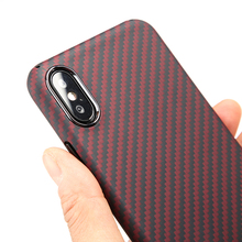Ultra Thin Red Aramid Fiber Case for iPhone X XS Cover Luxury Carbon Fiber Pattern for iPhone XR XS MAX Case