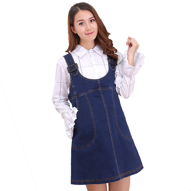 d9ef83cbe7 Newest Maternity Jeans For Pregnant Women Pregnancy Pants Belly Skirt  Cowboy Suspenders Skirt Plus Size Dress