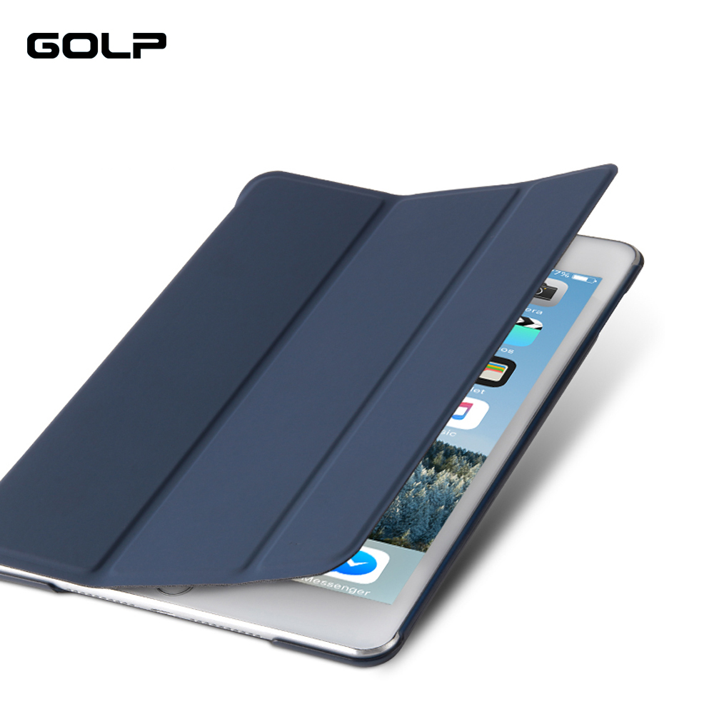 Case for IPad Mini 4, GOLP Detachable Magnetic PU Leather Smart Cover + Translucent PC Back Cover for IPad Mini 4 Flip case свитер vay свитер