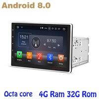 10,1 дюймов Восьмиядерный PX5 Android 8,0 Универсальный 2 Дин dvd gps авто плеер 4 г Оперативная память 32 г встроенная память Wi Fi 4 г usb Авто мультимедиа