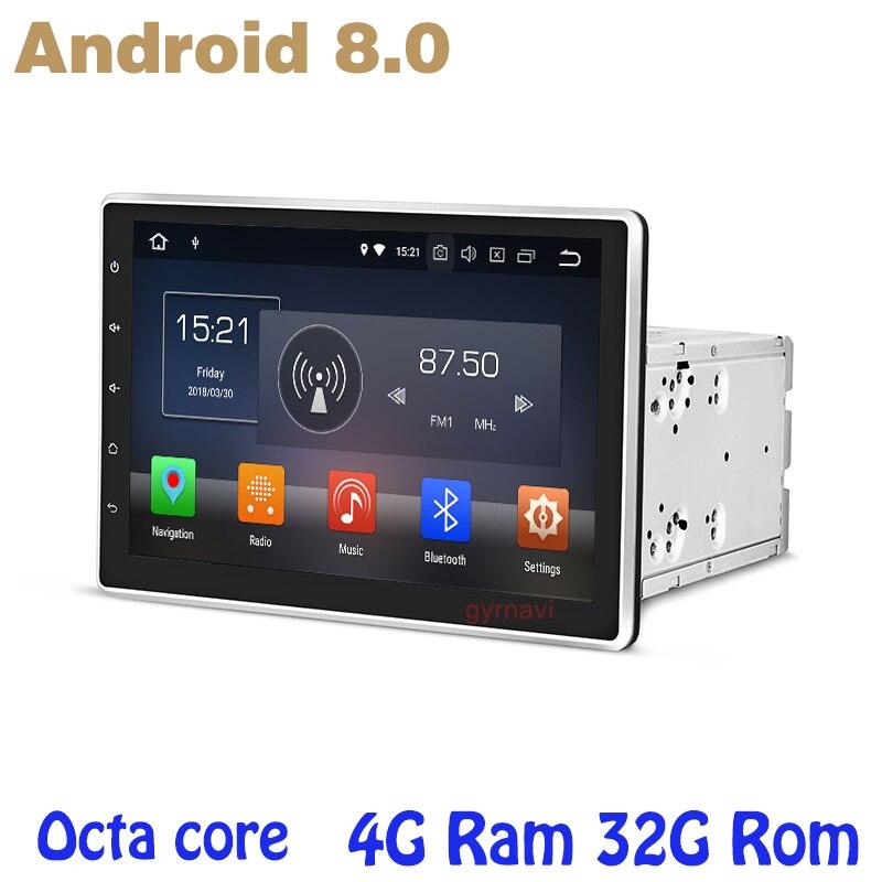 10.1 pouce Octa core PX5 Android 8.0 universel 2 din voiture dvd gps auto lecteur 4g RAM 32g ROM wifi 4g usb auto Multimédia