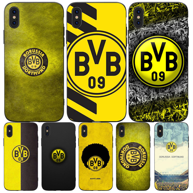 Zzxxzz The Bumblebee Borussia Dortmund Football Club Phone Case For Iphone 5 Se 6 6s 7 8 Plus And Iphone X Xs Max Xr Half Wrapped Cases Aliexpress