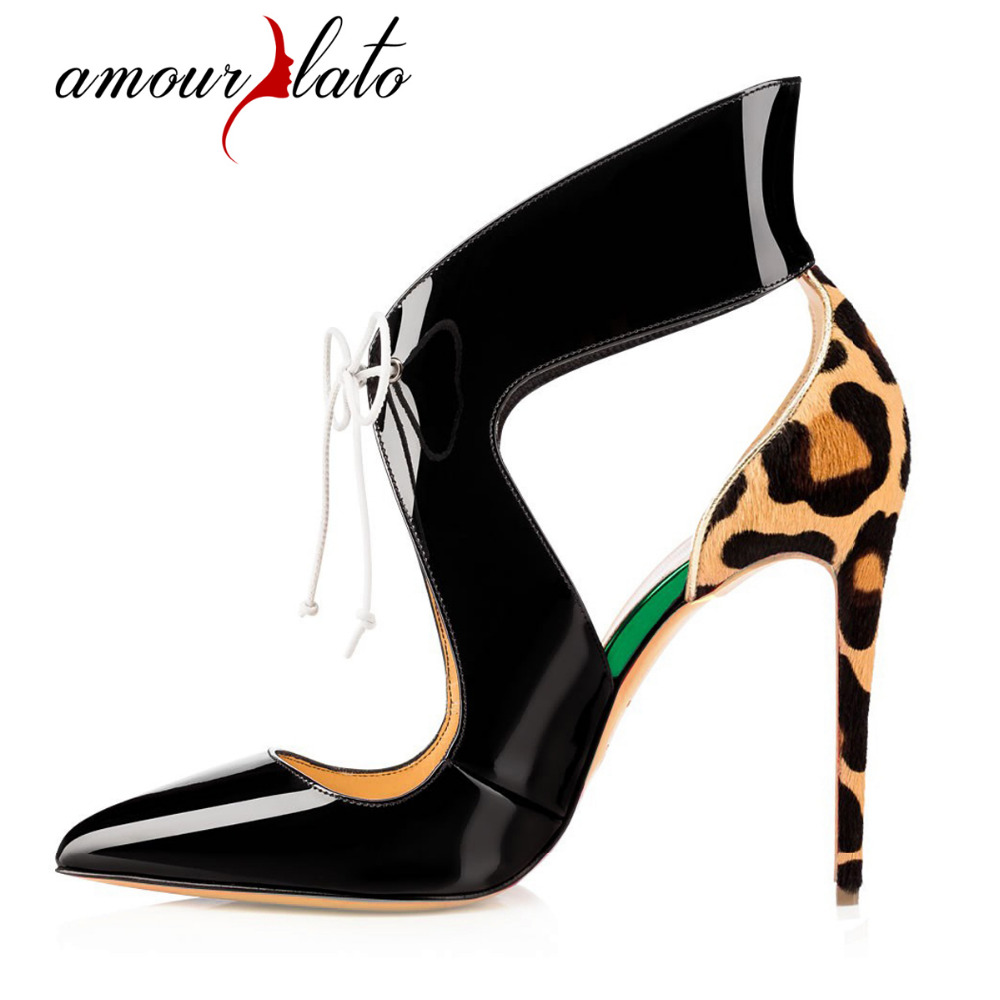 3be56e5f6fb Amourplato Women s Pointed Toe Strap High Heel Pumps Stiletto Heels Ankle  Straps Dress Shoes Size US