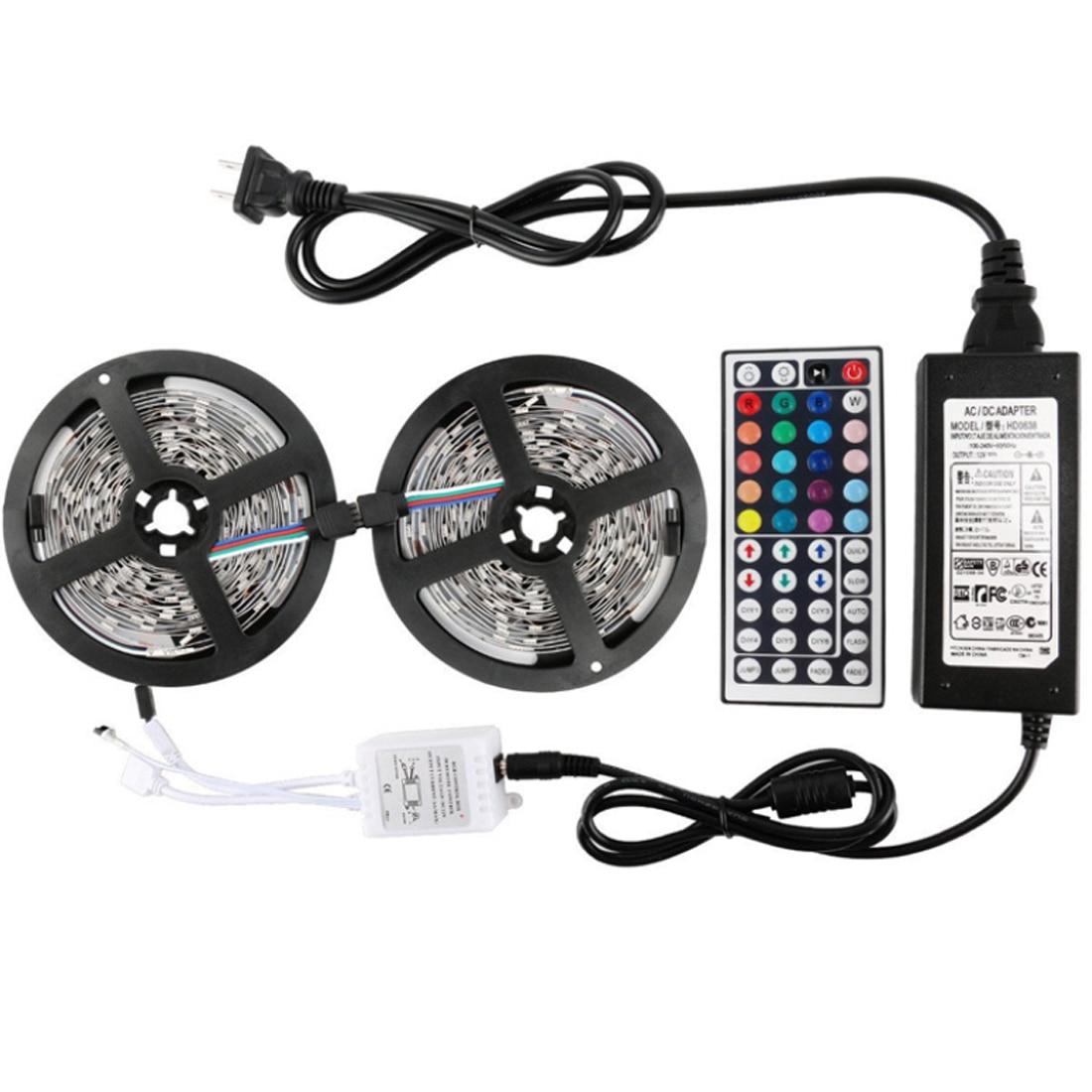 10 M 300 LED SMD 5050 RGB LED bande étanche DC 12 V lumière LED bandes flexibles néon bande Monochrome UK/EU prise