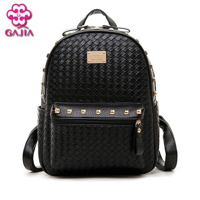 7521e49288 New 2016 Fashion Luxury Backpack Women Bags Designer Brand Famous Japan  Korean Style Resin Mesh Rivets Women Shoulders Bag