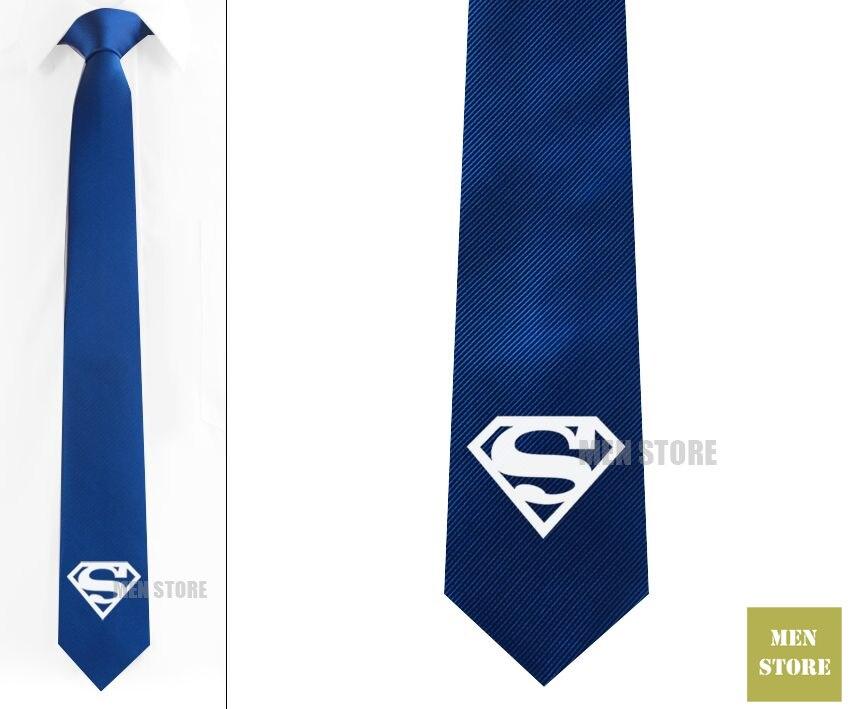 Herren-krawatten & Taschentücher Super Hero Logo Männer Jacquard Gewebt Skinny Slim Schmale Krawatte 6 Cm Krawatte Hochzeit Bräutigam Krawatte Manschetten Lk006m