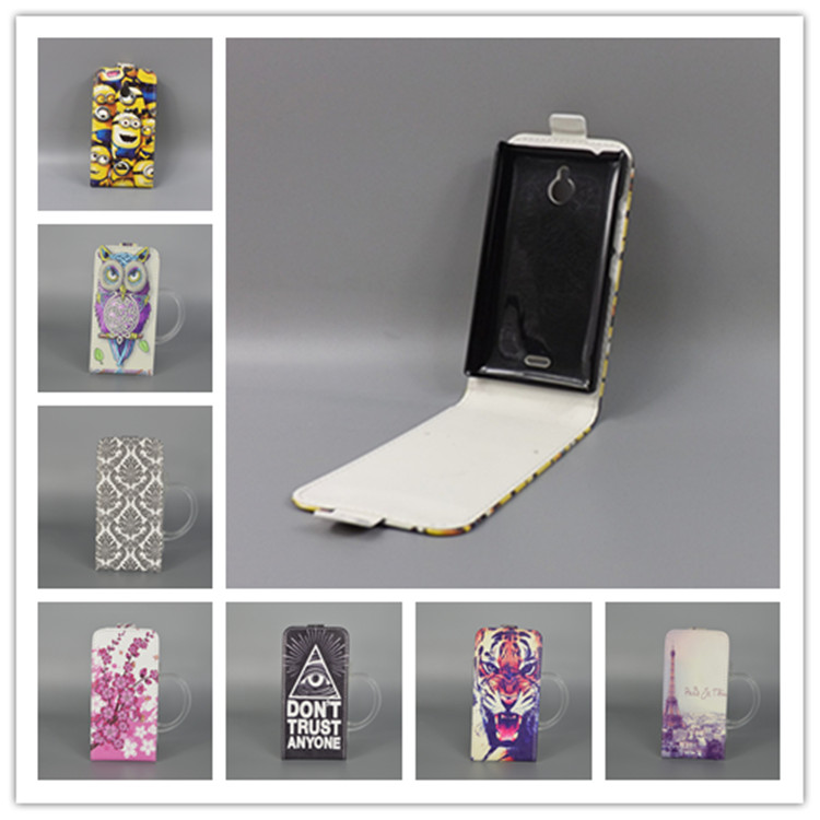 For Nokia X2 Dual SIM <font><b>RM</b></font>-<font><b>1013</b></font> X2DS Hot Pattern Cute PrintingVertical Flip Cover Open Down/up Back Cover filp leather case image
