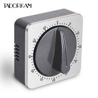 Mechanical Timer Magnetic Cooking 60' Alarm Durable Cylinder Timer Kitchen Baking Reminder Manual Safe Lock Alert Timer