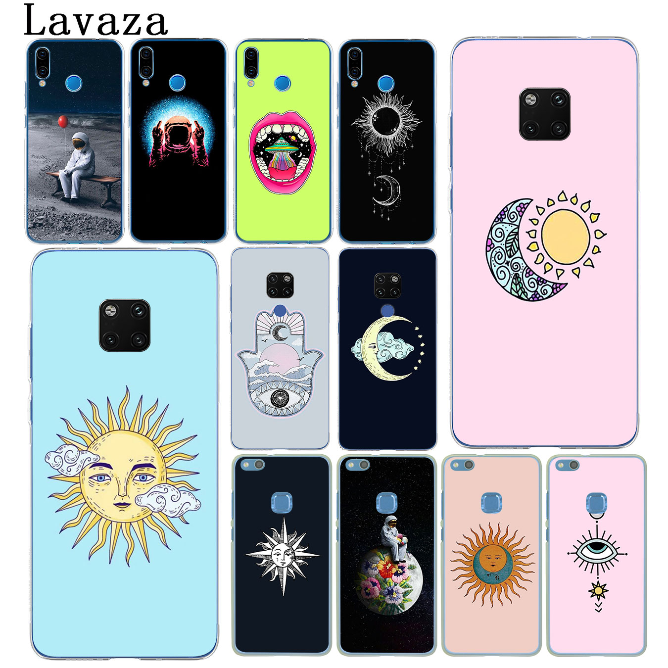 Fast Deliver Lavaza Sun And Moon Wiccan Hard Phone Case For Huawei Nova 4 3 3i 2i Lite 2017 Cover For Huawei Mate 20 10 P20 Pro Lite Cases Pleasant In After-Taste Phone Bags & Cases Half-wrapped Case