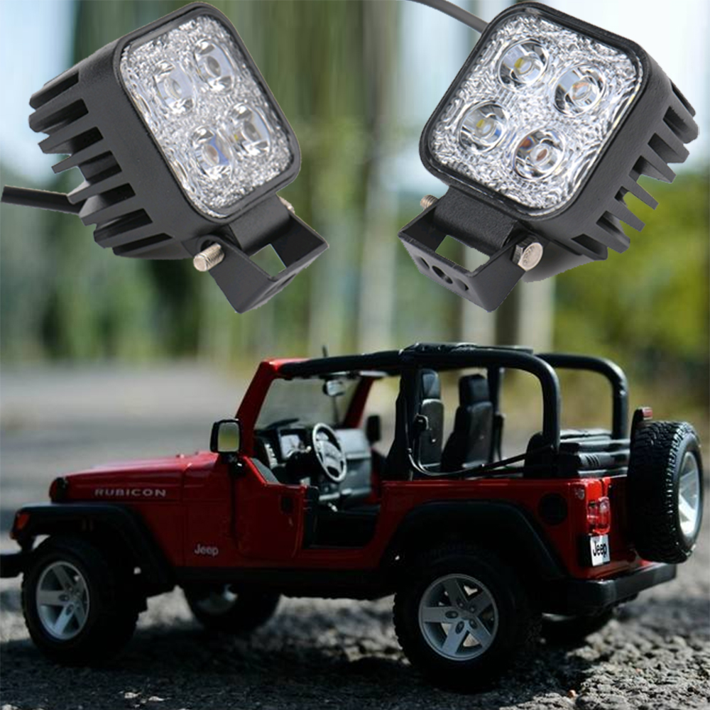 1Pc Car LED Work Light Offroad Lights 12W Flood&Spot Driving Lamp Spotlight for 12v 24v 4x4 Offroad Vehicle SUV ATV led lamp car lyc 6000k led daylight for citroen c4 for nissan led headlights 12v car led lights ip 68 chips offroad work light 40w