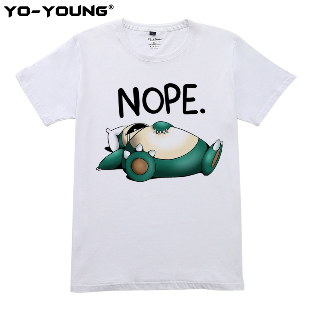 yo-young-women-t-shirts-funny-font-b-pokemon-b-font-snorlax-nope-i-will-do-it-tomorrow-print-100-combed-cotton-casual-top-tees-customized