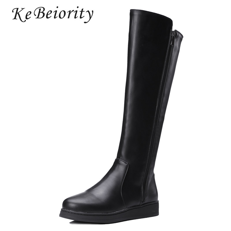 Flat Black Knee High Boots Promotion-Shop for Promotional Flat ...