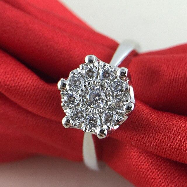 0.5 carat man made diamond jewelry silver lover wedding ring band for women  (JSA) cdcd3b7f8b