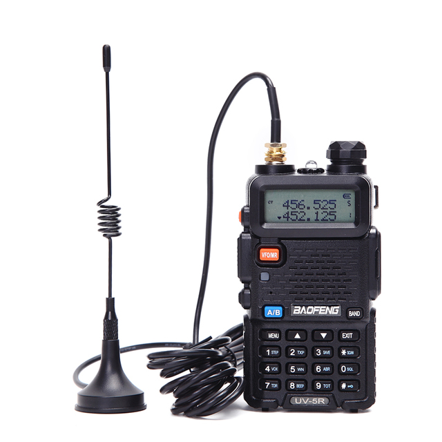 2 stücke walkie talkie antenne mit mini sucker UHF 400 470mhz für Baofeng 888S UV5R Walkie Talkie UHF Antenne Baofeng Zubehör