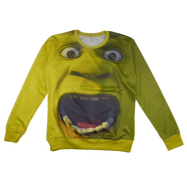 New fashion men women 3d hoodies pullover funny cartoon Shrek sweatshirt  spring fall female Harajuku top clothing size size 4f2433e039d6