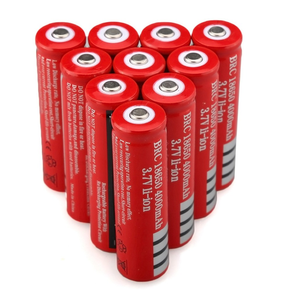 3.7V 18650 Battery Rechargeable Li-ion Battery for LED Torch Flashlight 4000mah Batteries accumulator battery Cell image