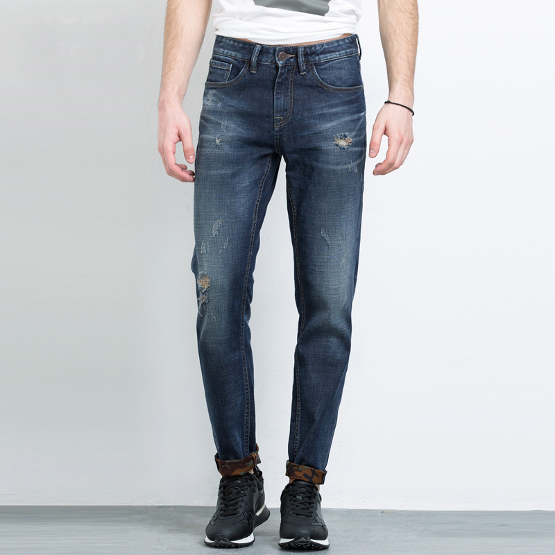 2017 New Spring Fashion Hole Jeans Men Long Trousers skinny jeans pants 2017 new fashion spring