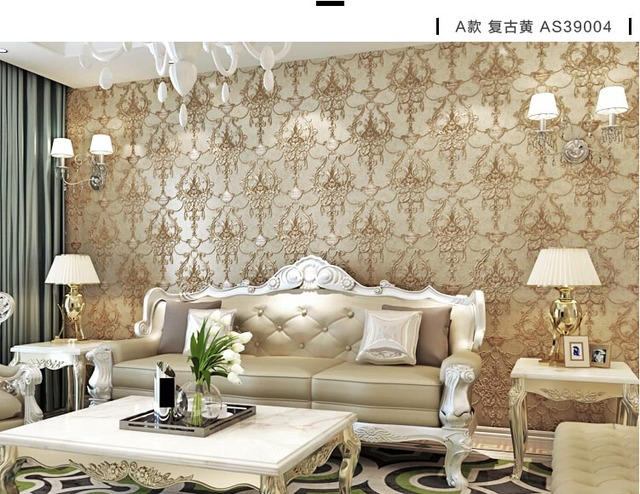 Us 56 0 30 Off Wallpaper 3d Embossed Non Woven Wallpapers Luxury European Wall Paper Mural Design Living Room Wallpaper Designs Home Decor In