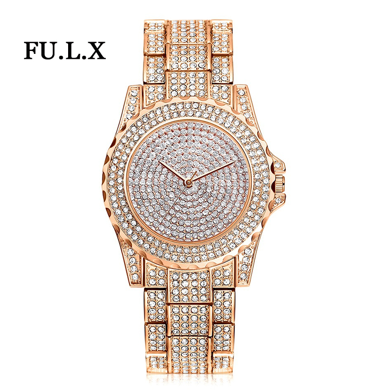 2018 New Arrival Luxury Women Watches Rhinestone Crystal Wristwatch Lady Dress Watch Men's Luxury Analog Quartz Watches Relogio